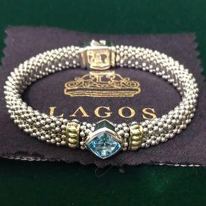 Lagos Blue Topaz Caviar Bracelet - Large
